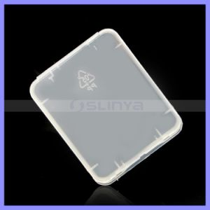 Transparent Eco-Friendsly Plastic Case CF Card Box Memory Card Case pictures & photos