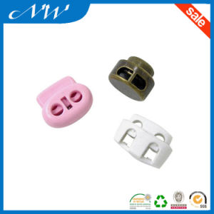 Two Hole Plastic Nylon Cord Lock with High Quality pictures & photos