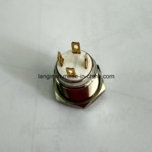 19mm Short Body 12V White Ring LED Metal Switch pictures & photos
