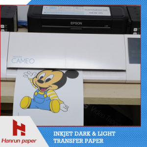 PU Coating Layer, Easy Cutting Dark T-Shirt Heat Transfer Printing Paper for 100% Cotton Fabric pictures & photos