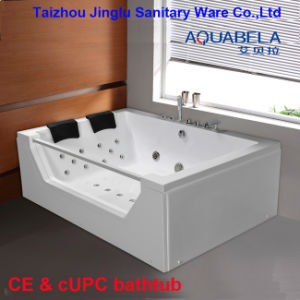 2 Person Acrylic Massage Bathtub Shower Tray Jacuzzi Whirlpool pictures & photos