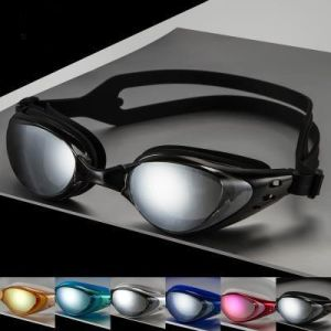 HD Electroplated UV Protected Silicone Swimming Goggles pictures & photos