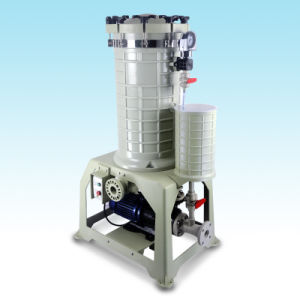 High Quality High Efficiency Plating Filter Equipment for Metal Plating Industry with Flange UPVC in/Outlet Hgf-2012