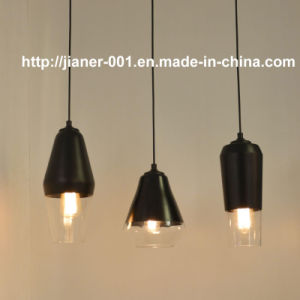 Modern DIY Glass Hanging Pendant Lamp Light in Black Color pictures & photos