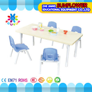 Wooden Children Table for Preschool Table for 6 Children pictures & photos