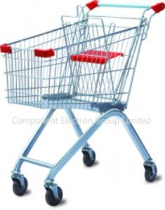 European Style Wire Supermarket Shopping Trolley&Shoping Cart pictures & photos