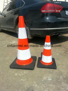 45cm/70cm PVC Road Safety Cone with Black Base pictures & photos