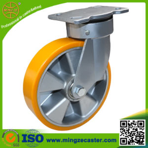 Heavy Duty Yellow PU on Aluminum Core Wheel Caster pictures & photos
