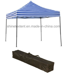 Black White Striped Folding Stall, E-Z up Instant Exhibition Tent pictures & photos