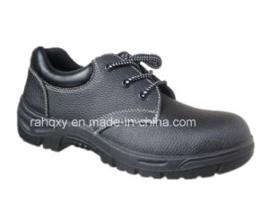 Split Embossed Leather Safety Shoes Low Cut Ankle (HQ01007) pictures & photos