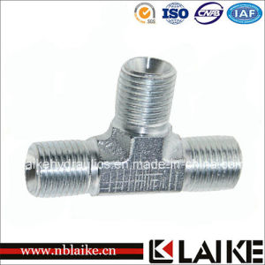 (AB) Bsp Male 60 Degree Seat Tee Hydraulic Hose Adapter