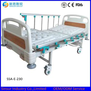 Electric Bed Hospital Furniture Aluminum Alloy Double Crank Medical Beds pictures & photos