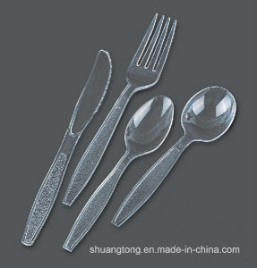 Clear Plastic Cutlery Sets Disposable Flatware PS Cutlery pictures & photos