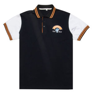 Custom Cotton Polo Shirt with Tipping Collar and Cuff pictures & photos