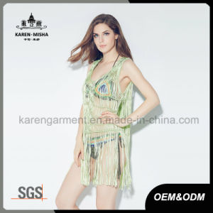 Fashion Fringe Handknit Tank Swimwear/ Dress for Women pictures & photos
