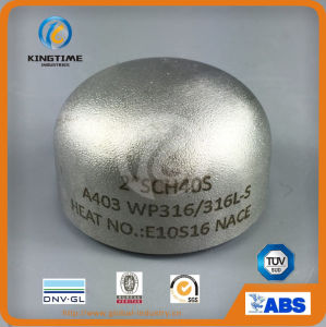 Butt Weld Fittings Wp304/304L Stainless Steel Cap Steel Seamless Pipe Fitting (KT0323) pictures & photos
