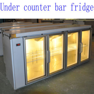 Under Counter Bar Fridge of 3 Glass Doors pictures & photos
