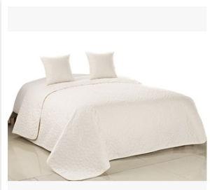 White 3PCS Bedding Set Patchwork Bedspreads Quilt pictures & photos