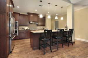 Dark Walnut Kitchen Cabinets (dw65) pictures & photos