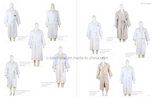 100% Cotton Waffle Hotel Bathrobe pictures & photos