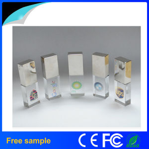 Free Sample Custom Engraving Logo Crystal USB Flash Drive 8GB pictures & photos