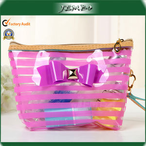 Pink Reusable Household Bowknot PVC Cosmetic Fashion Bags pictures & photos