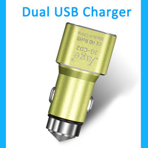 2016 New Car Aceessory Customized Car Battery Charger 12V 24V, Car USB Charger for Andriod and Apple