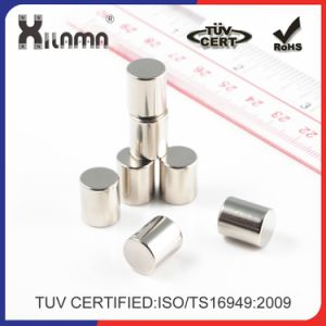 Custom Size Strong Cylinder Disc Permanent Neodymium Industrial Sintered Magnet pictures & photos