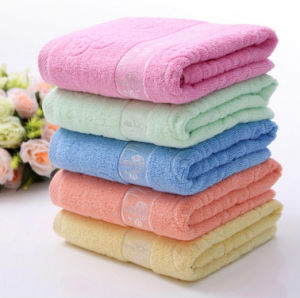 China Wholesale Custom Dobby Funny Bamboo Bathtowel pictures & photos