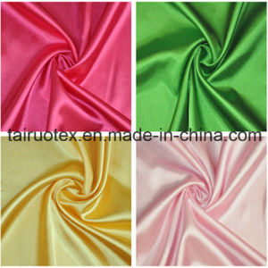 100% Polyester Satin for Lady Dress Clothes Fabric pictures & photos