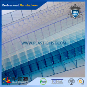 Blue Skylight Polycarbonate Hollow Roofing Sheet pictures & photos