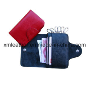 Customized Leather Keychain Card Holder Key Wallet pictures & photos