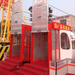 Sc100/100 Double Cage Construction Freight Elevators pictures & photos