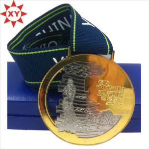 Custom Cut out Gold Medal with Medal Ribbon for Sport pictures & photos