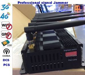 Signal Jammer 18W GSM WiFi GPS 3G 4G Mobile Phone Jammer 8antenna 8bands 60m