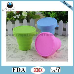 170ml Collapsible Silicone Drinking Cup Water Cup Coffee Cup Scu01 pictures & photos