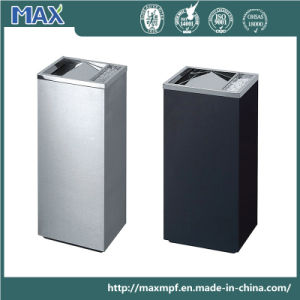 Stainless Steel Indoor Dustbin with Ashtray pictures & photos