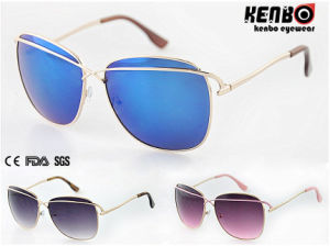 Hot Sale Fashion Metal Sunglasses CE FDA SGS Km15204 pictures & photos