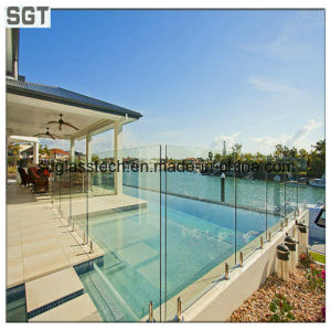 10mm Toughened Frameless Extra Clear Glass Fencing pictures & photos
