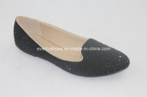 Diamond Printed Sexy Lady Flat Heel Ballet Women Shoes pictures & photos