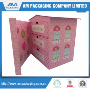 House Shaped Custom Pink Favor Paper Gift Boxes pictures & photos
