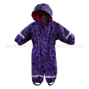 Purple Hoody PU Coated Jumpsuit/Overall/Raincoat pictures & photos
