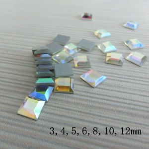 Wholesale Square Crystal Ab Non-Hotfix Rhinestone pictures & photos