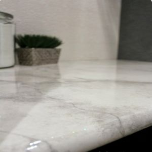 Polished Tile Kitchen Countertop Black/Beige/Green/White Marble Countertop pictures & photos