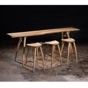 (SD-8403) Modern Hotel Restaurant Club Furniture Solid Wood High Bar Table pictures & photos