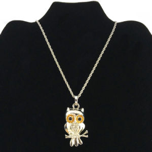 3D Owl Pendant Necklace for Teenage Necklace Jewellery (FN16040719)