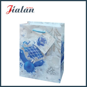 Customize Glossy Laminated Art Paper Glitter Christmas Packing Gift Bag pictures & photos