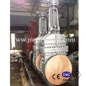 Gear Operated Big Size Flange End Gate Valve pictures & photos