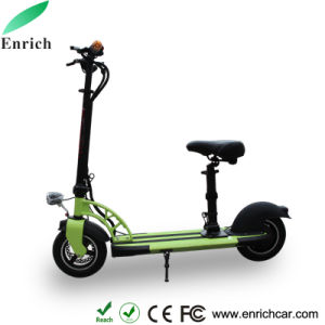 2wheel Mini Foldable Electric Scooter with Seat and Bluetooth Speaker pictures & photos