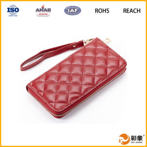 New Fashion Genuine Leather Women Long Wallet